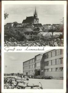 Lommatzsch Teilansichten Kirche Kat. Lommatzsch