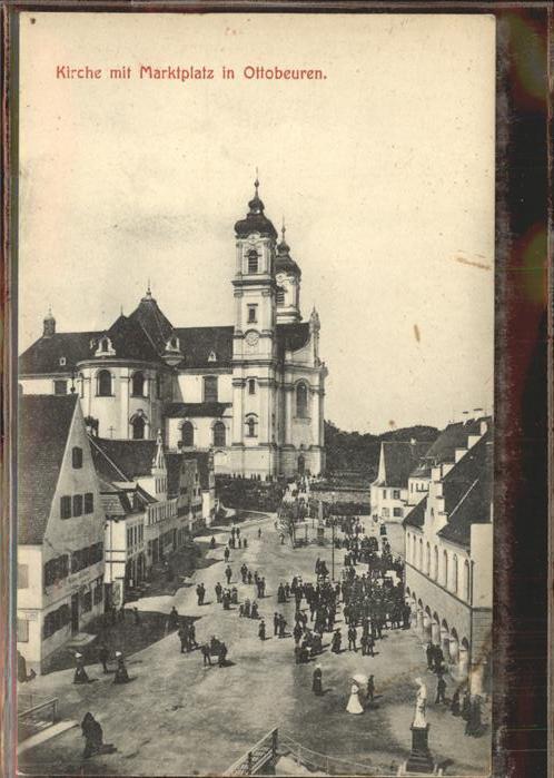 Ottobeuren Kirche mit Marktplatz Kat. Ottobeuren