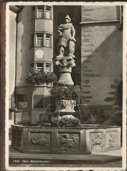 Chur GR Martinsbrunnen Kat. Chur