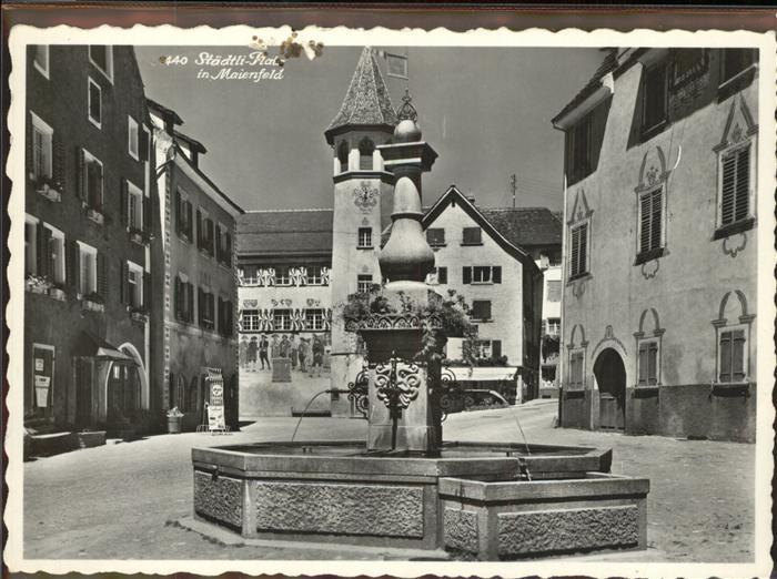 Maienfeld Staedtli Platz Kat. Maienfeld