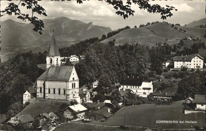 kk12341 Duerrnberg Hallein Teilansicht Kirche Kategorie. Hallein Alte Ansichtskarten