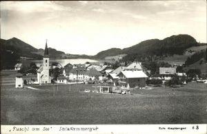 kk12762 Fuschl See Salzkammergut Teilansicht Kategorie. Fuschl am See Alte Ansichtskarten