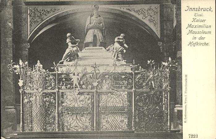 Innsbruck Tirol Kaiser Maximilian Mausoleum in der Hofkirche Kat. Innsbruck
