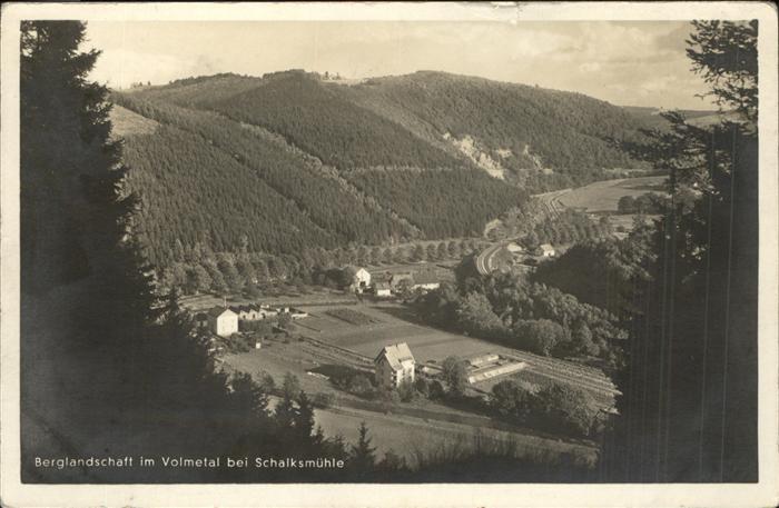 Schalksmuehle Berglandschaft im Volmetal Kat. Schalksmuehle