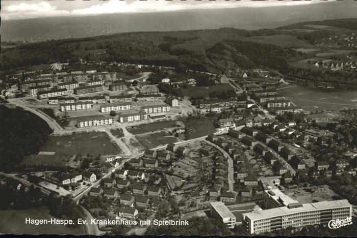 Haspe Hagen Fliegeraufnahme Ev. Krankenhaus mit Spielbrink / Hagen /Hagen Stadtkreis