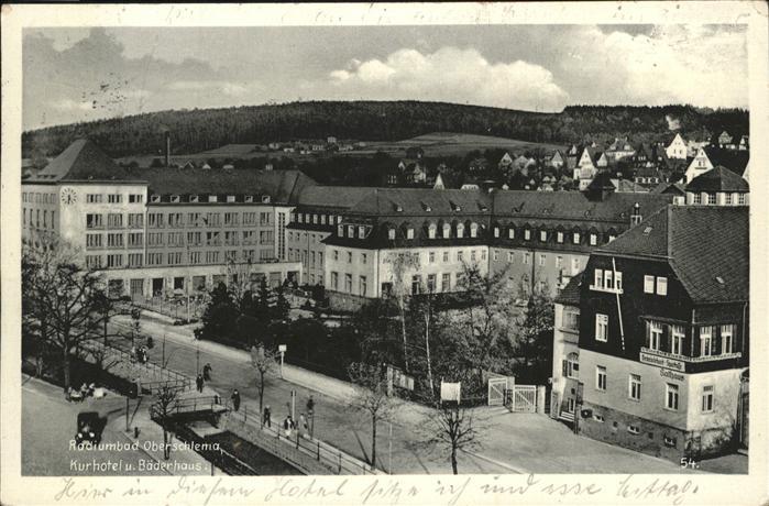Oberschlema Erzgebirge Radiumbad das staerkste Radiumbad der Welt Kurhotel und Baederhaus Kat. Bad Schlema