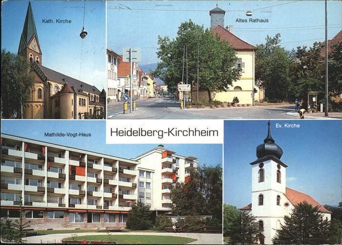 Kirchheim Heidelberg Altes Rathaus Kath. Kirche Ev. Kirche Kat. Heidelberg