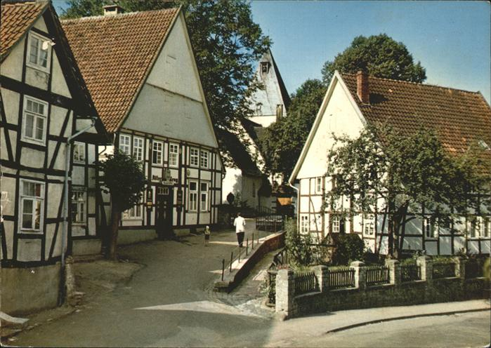 ak heeren werve blick auf die evang kirche nr 7666675 oldthing ansichtskarten deutschland. Black Bedroom Furniture Sets. Home Design Ideas