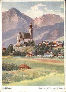 Anger Stauffen Blick auf Kirche und Dorf