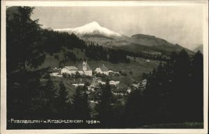 Fieberbrunn Tirol Panorama mit Kitzbuehlerhorn Kat. Fieberbrunn