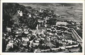 Friesach Kaernten Teilansicht Kirche Burg Fliegeraufnahme Kat. Friesach