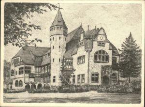 Mannheim Vereinshaus des Turnvereins Kuenstlerkarte nach einer Radierung des Kunstmalers Fritz Lange Kat. Mannheim