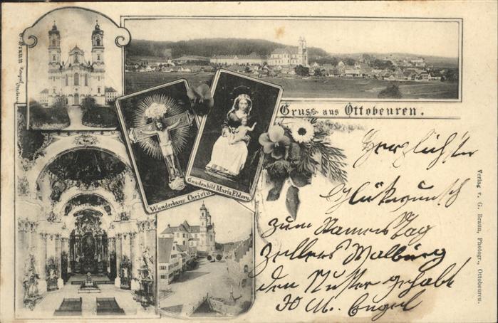 Ottobeuren Basilika Christus Kreuz Gnadenbild Maria Eldern Kat. Ottobeuren