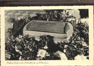 Wittenberg Lutherstadt Luthers Grab in der Schlosskirche / Wittenberg /Wittenberg LKR