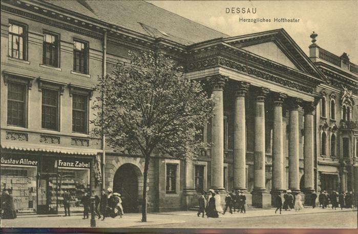 Dessau-Rosslau Herzogliches Hoftheater / Dessau-Rosslau /Anhalt-Bitterfeld LKR