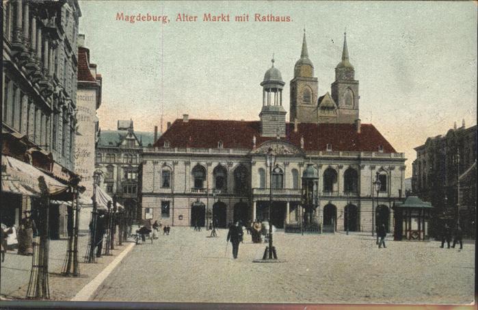Magdeburg Sachsen Anhalt Alter Markt Rathaus Kat. Magdeburg