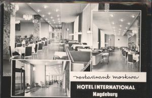 Magdeburg Sachsen Anhalt Restaurant Moskwa Hotel International Kat. Magdeburg