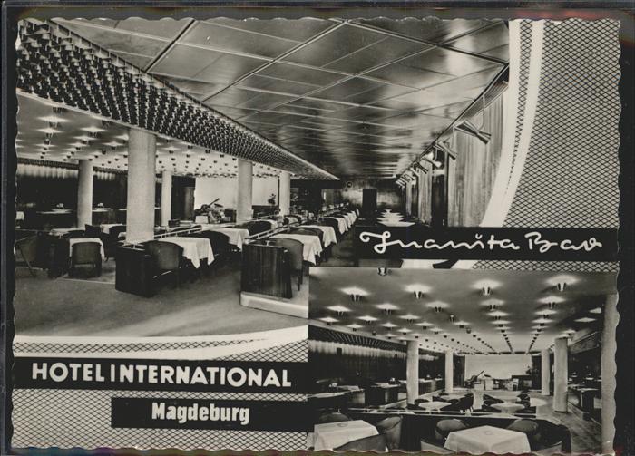 Magdeburg Sachsen Anhalt Hotel International Juanita Bar Kat. Magdeburg