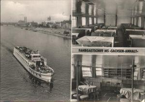 Magdeburg Sachsen Anhalt Fahrgastschiff MS Sachsen Anhalt Kat. Magdeburg