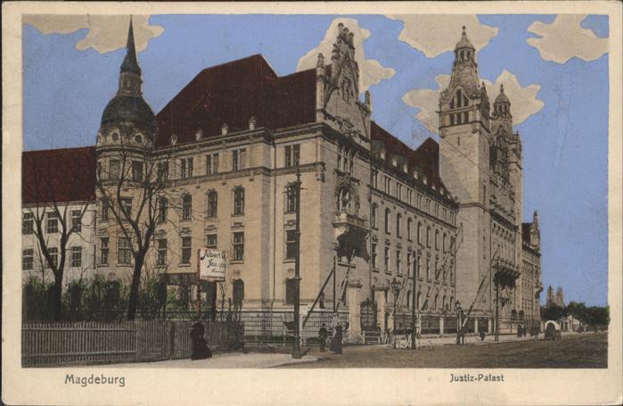 Magdeburg Sachsen Anhalt Justiz Palast Kat. Magdeburg