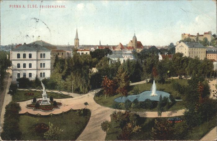 Pirna Friedenspark Kat. Pirna