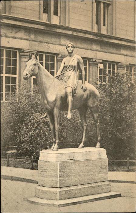 Berlin Denkmal Amazone auf Pferd Nationalgalerie Kat. Berlin