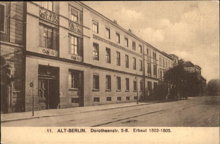 Berlin Alt Berlin Dorotheenstr. 5 6 Kat. Berlin