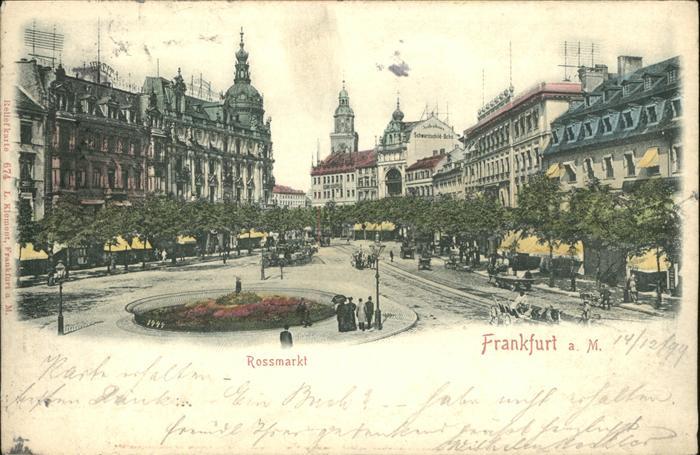 Frankfurt Main Rossmarkt Reliefkarte Kat. Frankfurt am Main