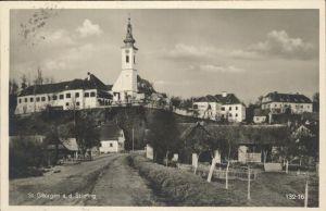 Sankt Georgen Stiefing Dorfpartie Kirche Kat. Sankt Georgen an der Stiefing