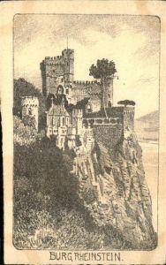 Trechtingshausen Burg Rheinstein Kuenstlerkarte / Trechtingshausen /Mainz-Bingen LKR