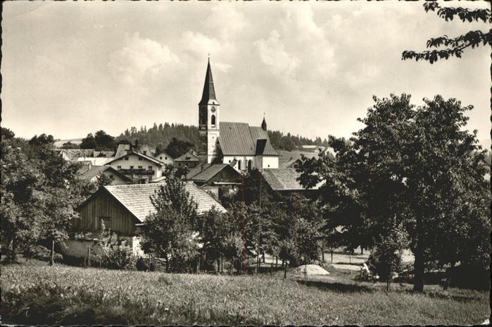 Gottsdorf Niederbayern Ortsansicht mit Kirche Kat. Untergriesbach
