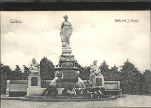 Koblenz Coblenz Artillerie Denkmal Kat. Koblenz