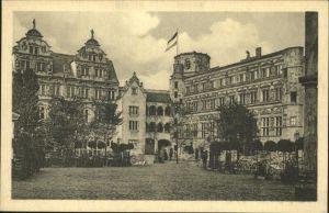 Leipzig Weltausstellung Buchgewerbe Grafik 1914 Schlosshof Alt Heidelberg Kat. Leipzig