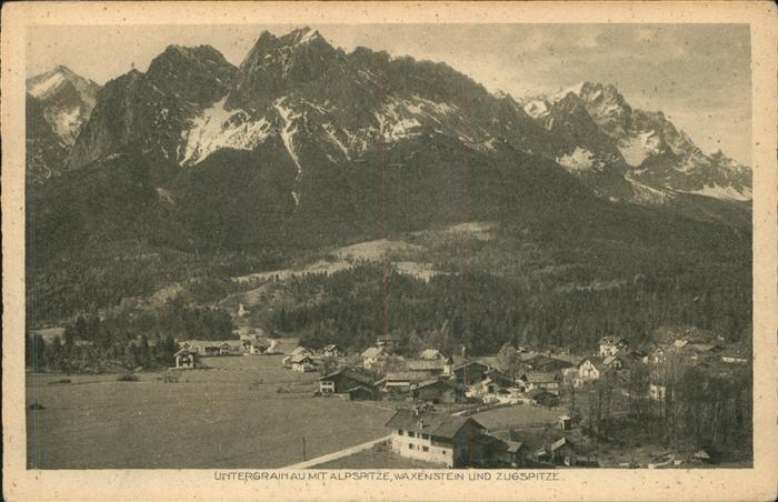 Untergrainau Zugspitze Waxenstein Alpspitze Kat. Grainau