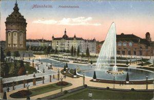 Mannheim Partie am Friedrichs Platz Kat. Mannheim
