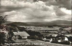 Rabenstein Zwiesel Blick vom Annenhof auf den Gr Rachel / Zwiesel /Regen LKR
