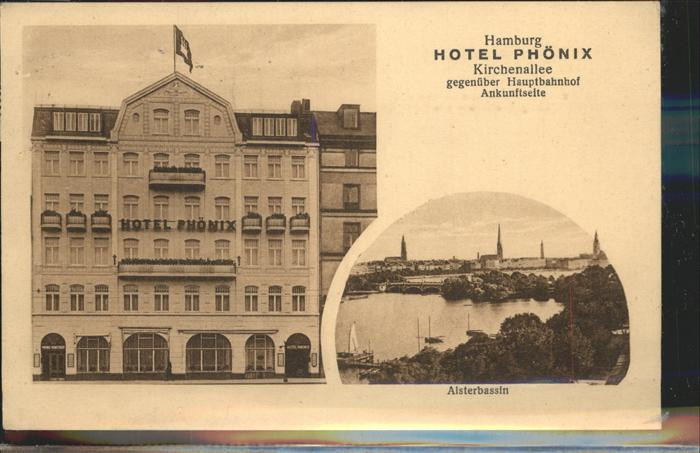 Hamburg Hotel Phoenix Alsterbassin Kat. Hamburg