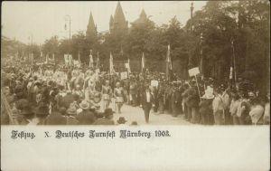 Nuernberg Festzug Deutsches Turnfest 1903 Kat. Nuernberg