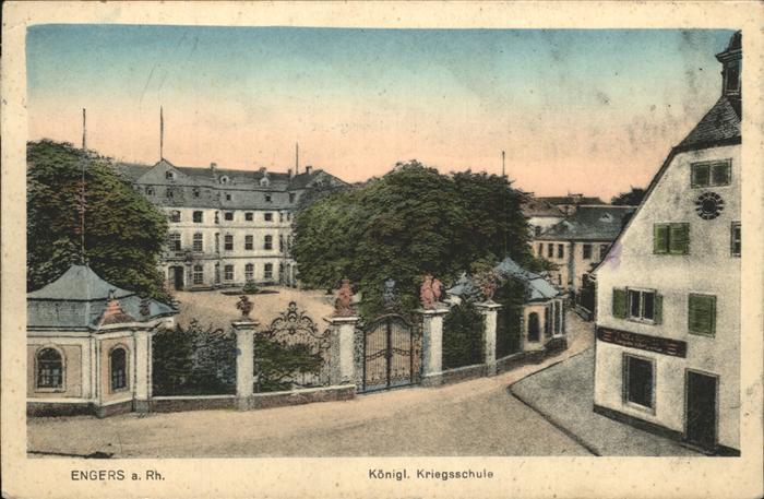 Engers Koenigl. Kriegsschule Kat. Neuwied
