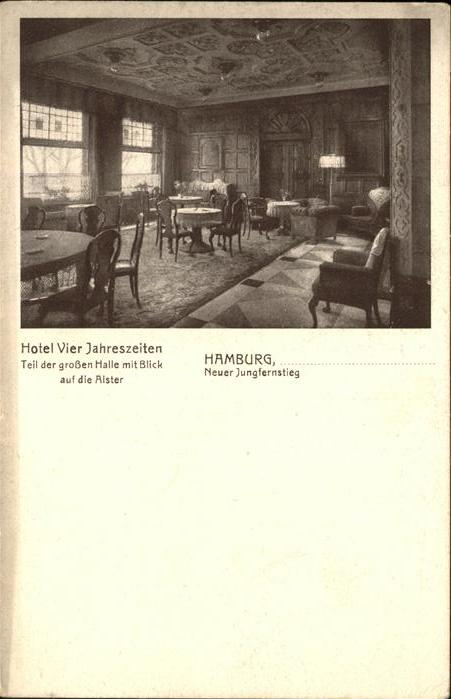 Hamburg Hotel Vier Jahreseiten grosse Halle Kat. Hamburg