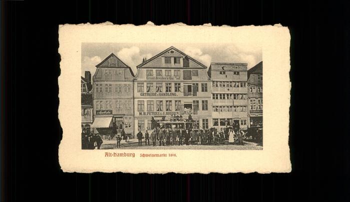 Hamburg Schweinemarkt 1868 Kat. Hamburg