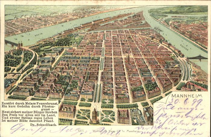 Mannheim Stadtkarte Kat. Mannheim