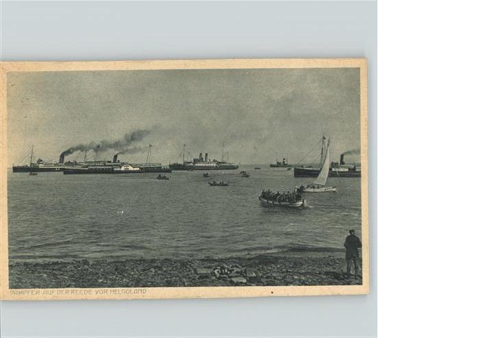 Helgoland Dampfer auf Reede vor Helgoland / Helgoland /Pinneberg LKR