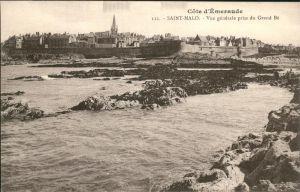 Saint Malo Ille et Vilaine Bretagne Vue generale prise du Gran Be Cote d Emeraude Kat. Saint Malo