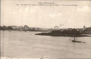 Saint Servan Ille et Vilaine Les Bords de la Rance Rocher Bizeux vue prise de la Vicomte Cote d Emeraude Kat. Saint Malo