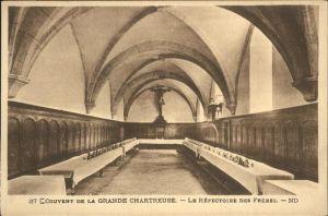Grande Chartreuse Couvent de la Grande Chartreuse Le Refectoir des Freres Kat. Saint Pierre de Chartreuse