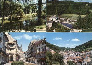 Plombieres les Bains Vosges Place des Bains Romains Petit Moulin Lac du Parc Kat. Plombieres les Bains