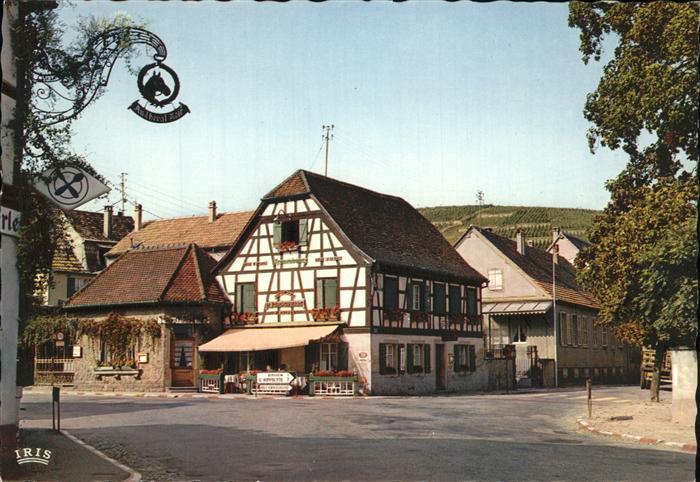 Ribeauville Haut Rhin Elsass Entree de la ville Route du Vin Restaurant Fachwerkhaus Kat. Ribeauville