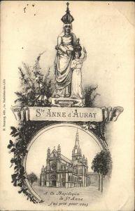 Auray Basilique de Sainte Anne d Auray Kuenstlerkarte Kat. Auray