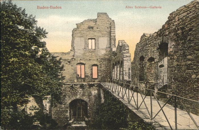 Baden Baden Altes Schloss Gallerie Ruine Kat. Baden Baden
